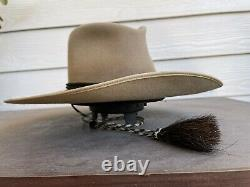 10X Beaver Clint Eastwood John Wayne Vintage Cowboy Hat 7 1/8 Western Cavalry