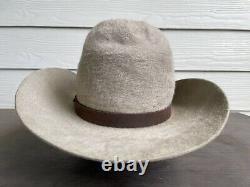 10X Grizzly Vintage Antique Old West Cowboy Hat 7 1/4 Gus Tom Mix Western 58cm