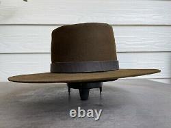 10X Rugged Antique Vintage Old West Cowboy Hat 7 1/4 Clint Eastwood Western