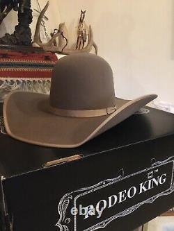 10x Beaver Felt 6 7/8 Rodeo King Hat 4.5 Brim Open Crown