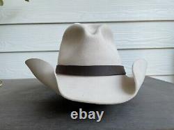 15X Custom $559 Vintage Greeley Hat Works Cowboy 7 5/8 Beaver Felt Western Gus