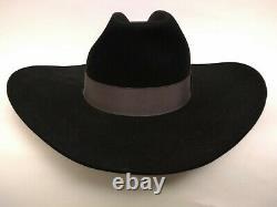 1950's Resistol'Stetson' Western Hat- Black Beaver Felt 4 brim SUPER