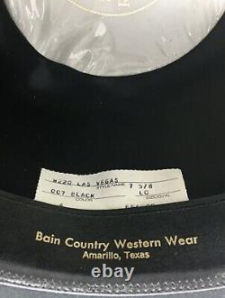 1980s Resistol Black Las Vegas Hat, 3XXX Beaver, Self-Conforming. Very Nice