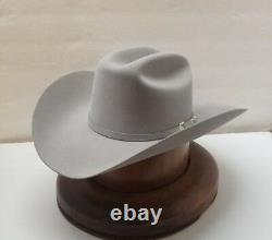 30X STETSON HAT BEAVER FUR-EL PATRON-MistGrey