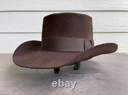 3X Beaver Felt Vintage Antique Resistol Clint Eastwood Cowboy Hat 7 1/8 Gambler