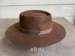4X Stetson Antique Vintage Beaver Felt Old West Cowboy Hat 7 1/8 Clint Eastwood