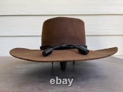 4X Stetson Clint Eastwood John Wayne Vintage Cowboy Hat 7 3/8 Western Cavalry