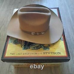 6x Stetson Skyline Beaver Fur Felt Cowboy Hat Sahara Size 7 1/8