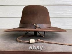$789 10X Beaver Felt Custom Eastwood Vintage Antique Cowboy Hat 7 3/8 Old West