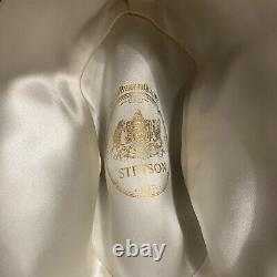 7X Clear Beaver Stetson 1930s -1950s Reinforced Edge. 7 1/4 Very Hard To Find