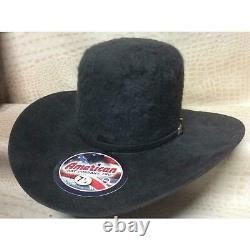 American Hat Co. Grizzly 20X Long Hair Beaver Fur Felt Cowboy Hat Western Rodeo