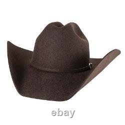 BROWN 4X Beaver Fur Felt HAT 4 Brim Rodeo King Cowboy Western Strait