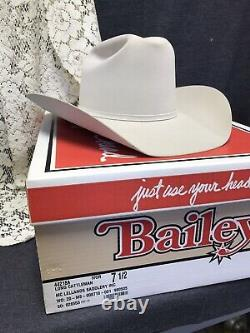 Bailey 20x beaver fur Cattlemens hat size 7.5. Top quality Withoriginal Box