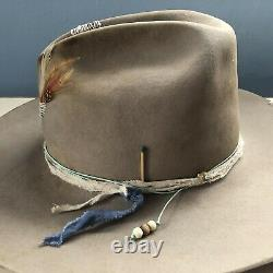 Bailey distressed cowboy hat 6X beaver Nick Fouquet Style Size 7 3/8