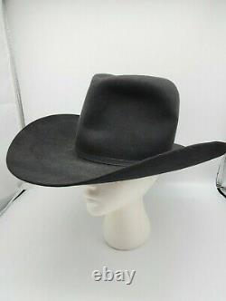 Beaver Hats Self Conforming Long Oval Western Cowboy Hat Men's size 7 1/8