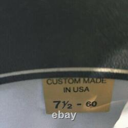 Beaver brand 5x beaver felt cowboy hat NWOT, 7 1/2-60 Black/ with leather braid