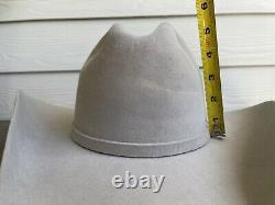 Custom 10X Beaver Felt Vintage Old West Stetson Cowboy Hat 7 1/8 Rodeo Western