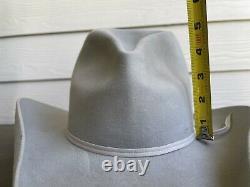 Custom 10X Beaver Felt Vintage Old West Stetson Cowboy Hat 7 Gus Tom Mix Antique