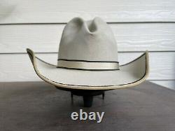 Custom Antique 5X Beaver Felt Vintage Old West Stetson Cowboy Hat 6 7/8 Gus