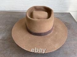 Custom Rugged Antique Vintage Beaver Old West Cowboy Hat 7 Clint Eastwood 56cm