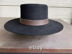 Custom Rugged Antique Vintage Old West Cowboy Hat 7 3/8 Clint Eastwood Western