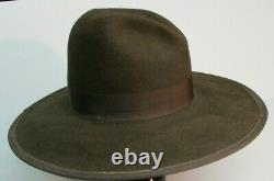 GUS TOM MIX 8X BEAVER TEXAS COWBOY HAT Size 7 3/8 BROWN SASS MOVIE PROP HOUSE