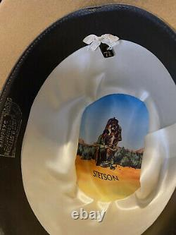 John B. STETSON ^^3X BEAVER^^ Cowboy Hat Size 7 5/8 Sand Color Great Hatband