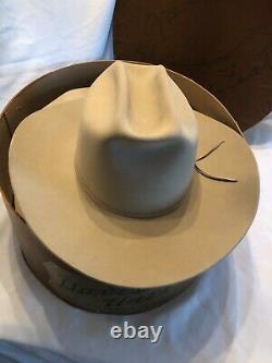 John B. Stetson 3X Beaver Ancker's Western Hat 7 1/4 Long Oval