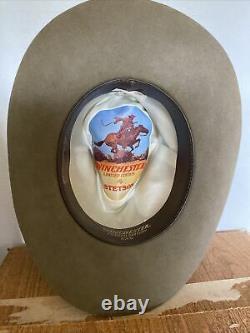 John Stetson 3X Beaver Winchester Limited Edition XXX Cowboy Hat withBox Sz 7-1/8