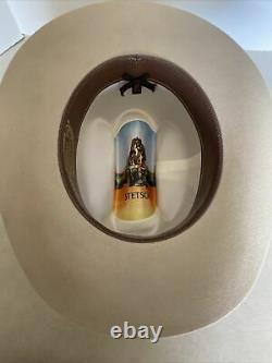 John Stetson 4X Beaver XXXX Cowboy Hat Size 7-1/8 Beige Color