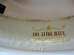 Los Altos Silver Belly 10X Beaver Felt Cowboy Hat 7 3/8 Brim 4