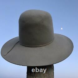 M. L Leddy 5x Beaver Cowboy Hat Size 6 7/8 Silver Tan