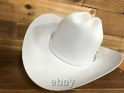 Mens Larry Mahan Cruz de Oro 30X Beaver Fur Felt Western Cowboy Hat 7-1/8