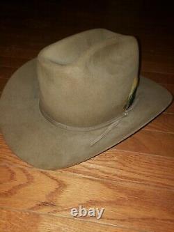 Mint Vintage John B. Stetson Hat 4X Beaver Size 7 1/4 Acorn Color