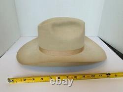 Monte Cristi Cowboy Hat Works Western beige feather Santa Fe New Mexico JD 7 1/2