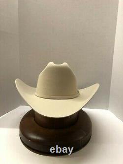 NEW Stetson Cowboy Hat 100X Beaver Silverbelly Fur EL PRESIDENTE G. E. +Hard Case