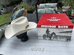 NEW Vintage 1980s STETSON 4X BEAVER Rancher 7-1/2 Special Ed. WHITE HOUSE DELG