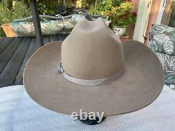 New 1980s Custom OFARRELL 75 Beaver Rancher Taupe 7-3/8 Retail $800 Stetson