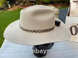 New 1990s OFARREL 100X Pure BEAVER BONE Color Cowboy 7 to 7-1/8 Orig. Box
