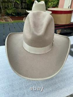 New 1990s Rocky Mountain Hat Co Custom Made 100X Pure BEAVER Taupe Cowboy 7-1/8