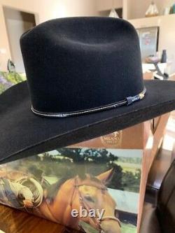 New Mens Larry Mahans Black 15X Beaver Fur Western Cowboy Hat