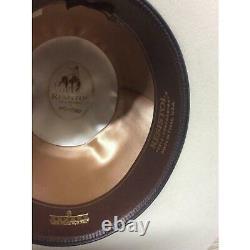 New Resistol 6X Midnight Silver Belly Beaver Fur Felt Open Crown Cowboy Hat West