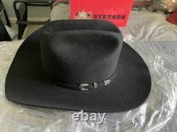 New Stetson Skyline Black 6X Beaver Fur Felt Western Rodeo Riding Cowboy Hat