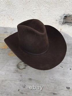 Nudie Dk Chocolate Resistol Vintage Cowboy Hat 7 1/8 nudies very rare original