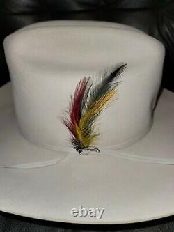 Pre-ownedStetson Rancher Western Hat 5X Beaver Light Gray Sz 7 1/4 Long Oval