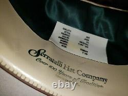 Quality 30x beaver pelt cowboy hat, style Jake, profile F5. Beautiful blue gems
