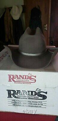RANDS 10X Beaver Custom Cowboy Hat 7 5/8