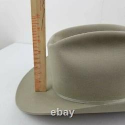 RESISTOL Vintage Cowboy Hand Creased 3X Beaver Tan 7 1/4 western Hat