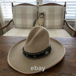 Rand's Custom Hats30 DRIFTER 20X Beige with Leather & Stone Hat Band