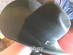 Resistol 20X Beaver Felt Black Gold Cowboy Western Hat 7 1/4 7 3/8